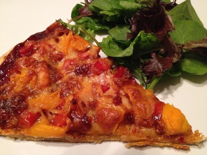 2 BBQ Chicken Mango Pizza