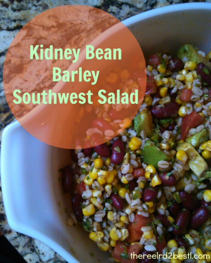 Kidney Bean Barley Southwest Salad